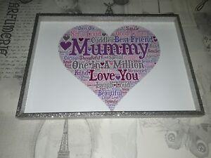 mummy in a million birthday christmas gift word art