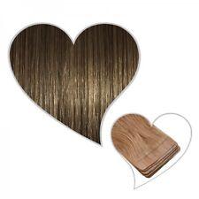10 cintas extensiones marrón ceniza#08 35 cm Pelo auténtico adhesiva de
