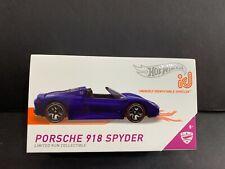 Hot Wheels Porsche 918 Spyder ID Blue FXB02-998D 1/64