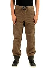 Moncler hombre Marrón pana informal pantalones US 34 It 50