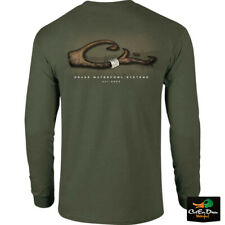 NEW DRAKE WATERFOWL SYSTEMS BAND ON LOGO L/S T-SHIRT TEE