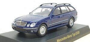 1/64 Kyosho MERCEDES BENZ TYPE E320 WAGON BLUE diecast car model