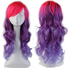 Anime Cosplay Wigs Female High Temperature Wig and Colorful Long Hair Full Wigs