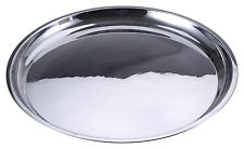 Renberg Round Serving Platter Stainless Steel Dish Large Party Silver Food Tray