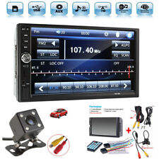 "2 Din 7"" Touch Screen FM Radio Audio Stereo Car Video Player+HD Camera Accessory"