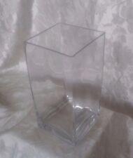 Verre transparent carré cube vase pièce centrale 20cm de hauteur