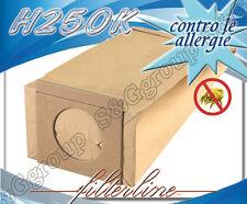 H250K 8 sacchetti filtro carta x Hoover Scope Elettriche Mini S2462