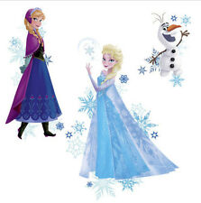 DISNEY FROZEN wall stickers MURALS 3 big decals ELSA ANNA OLAF decor snowflakes