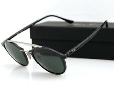 82f9126ccc358 NEW Authentic RAY-BAN Light Ray Black Green lens Round Sunglasses RB 4266  601