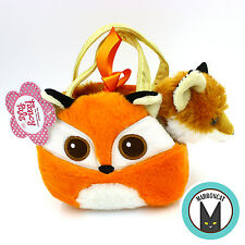 Aurora World Fancy Pals Bright eyes Red Fox Pet Carrier Girls Plush Handbag Toy