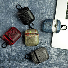 Cases for AirPods leather protection case PORTABLE SHOCKPROOF COVER PU snake