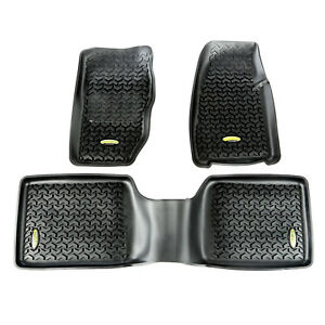 Floor Mat Liners Kit Black for Jeep Cherokee XJ 1984-2001 391298730 Outland
