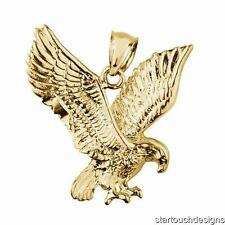 New 14k Yellow Gold Eagle Pendant