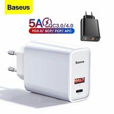 30 Вт-Baseus Usb тип C настенное зарядное устройство QC4.0, PD3.0, быстрая зарядка адаптер для iPhone 12
