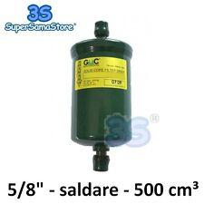 R134a R600a Ø5mm x Ø2,5mm 110mm. 2 filtro molecolare disidratatore frigo 10gr