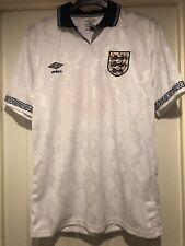 Match Worn England Shirt Italia 90 Style  Unwashed