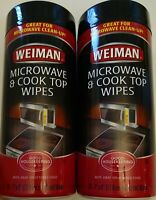 Weiman Microwave & Cooktop Cleaning Wipes lot of 2- 30 Count Canister Free shipp