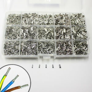 5400 Pc NON INSULATED Terminals Kit - Unisulated Bootlace Ferrule Cable Wire Set