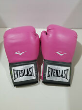 Everlast Women's Pink Boxing Gloves Training Wrist Strap Pro Style 12 oz