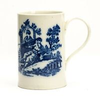 ANTIQUE CAUGHLEY LARGE PILLEMENT DESIGN MUG c.1775