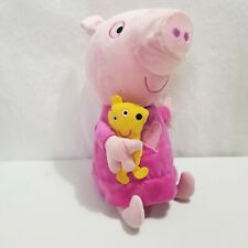 Peppa Pig Stuffed Plush Slumber N Oink Bedtime Friend Talks Soft Excellent