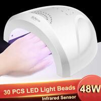 48W 30 LED UV USB FORNETTO UNGHIE LAMPADA RICOSTRUZIONE ASCIUGA SMALTO NAIL