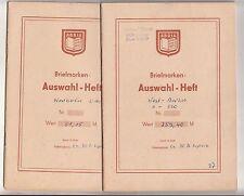 2 alte Auswahlhefte Berlin West * auch bessere Werte * 1950er - 1980er !