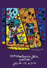 ROMERO BRITTO 2010 MONTREUX JAZZ POSTER (Thick Paper) ** NEW **