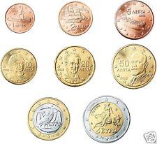 manueduc   GRECIA 2008  Las 8  Monedas  Nuevas con 2 EUROS NORMAL NUEVAS