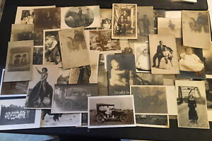 Lot Of 45 Real Photo Postcards RPPC People Women Babies Autos Animals Horses