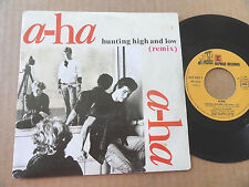 "DISQUE 45T DE A-HA  "" HUNTING HIGH AND LOW """