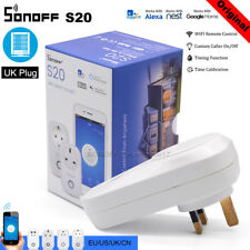 Sonoff S20 WIFI Smart APP Remote Control Timer Socket UK Plug Home Automation