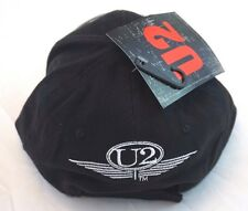 New U2 Black Baseball Cap Adjustable Strap License Merchandise Free Post