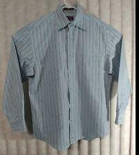 NORDSTROM Shirt Smart Care Cotton Stripe LS Men Medium Dry Cleaned Wrinkle-Free
