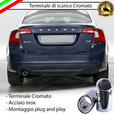 TERMINALE DI SCARICO SINGOLO PER MARMITTA TONDO CROMATO INOX VOLVO S60