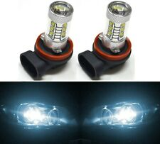 LED 80W H11 White 6000K Two Bulbs Fog Light Replacement Plug Play Show Use
