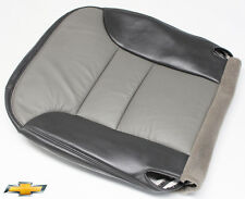2000 Chevy Tahoe Limited -Driver Side Bottom Leather Seat Cover 2-Tone Gray
