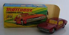 Matchbox - Superfast - MB 20 Lamborghini Marzal - Metallicrot -OVP-