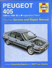 Peugeot 405 Petrol Service & Repair Manual 1988-1996 E to N reg. Haynes