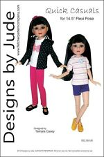 "Quick Casuals Doll Clothes Sewing Pattern for 14.5"" Flexi Pose Doll Tonner"