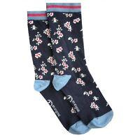 KANGOL Womens 2 Pack Cashmere Wool Blend Crew Socks /> One Size UK 4-8 EU 37-42