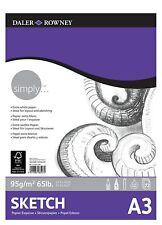 Daler Rowney Sketch Pad Book A3 Simply Sketch 434935300 11/16X16 1/2in