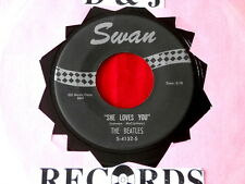BEATLES~ SHE LOVES YOU~ SMALL PRINT~I'LL GET YOU~ SWAN~ DON'T DROP OUT ~ POP 45