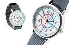 NEW! EasyRead Time Teacher Kids Watch Tell the Time Grey Band - Red/Blue Face