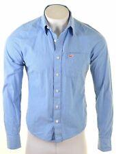 HOLLISTER Mens Shirt Medium Blue Striped Cotton  E118