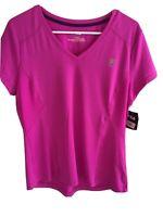 Fila Sport Womens Short Sleeved Activewear Top Size:L Dark Pink