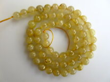 Natural Gold Rutile Quartz Smooth Round Rondelle Beads 7mm Beads 15 Inch GDS919