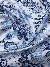 Designer Soft Cotton Satin Floral Print Multicolour Dress Craft Fabric