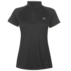 Karrimor Womens Zipped Short Sleeved T Shirt Ladies Tee Top Breathable