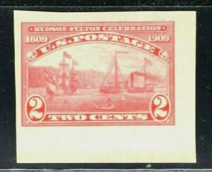 [CG]..US #373 Mint-NH 1909 Imperforate Hudson-Fulton Corner-position Single